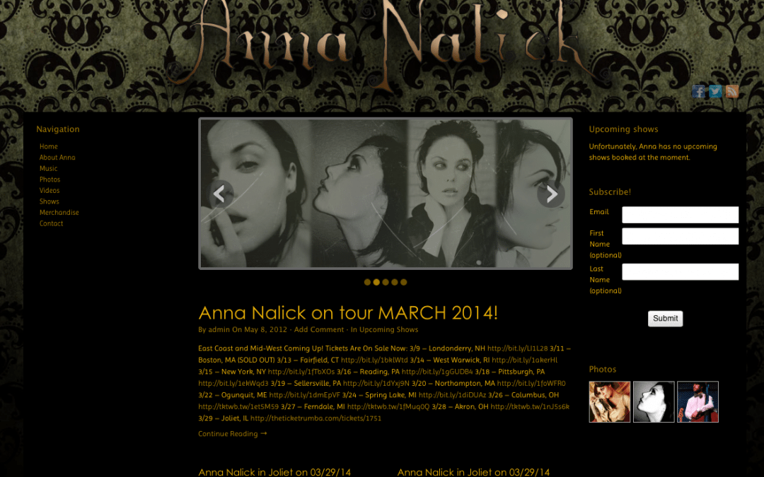 Anna Nalick's Official Website