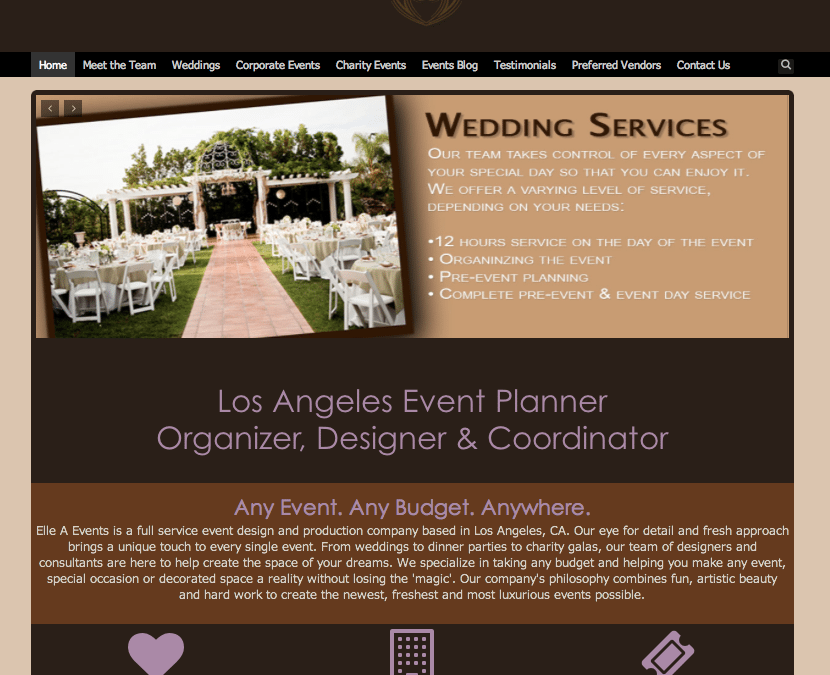 WEBSITE LAUNCH: Elle A Events