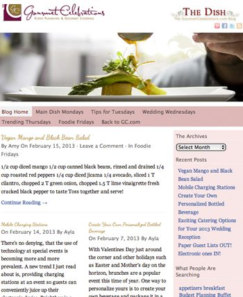NEW LAUNCH: Gourmet Celebrations Blog Site