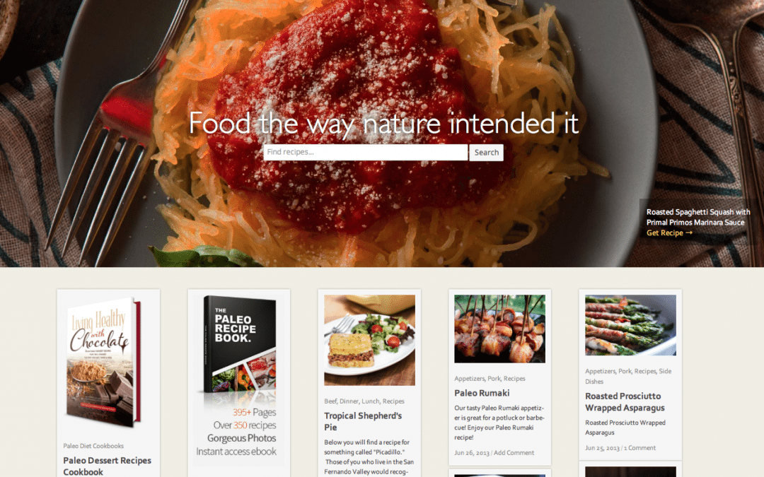 WEBSITE LAUNCH: Paleo Recipes & Diet Blog by Primal Primos