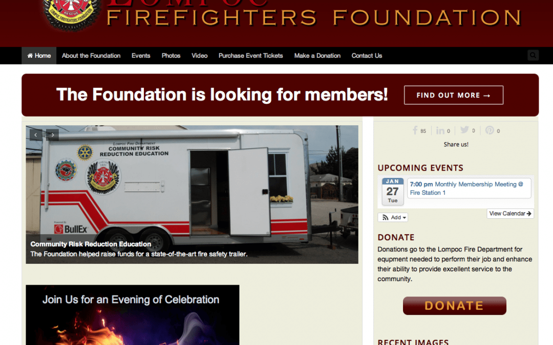 WEBSITE LAUNCH: Lompoc Firefighters Foundation
