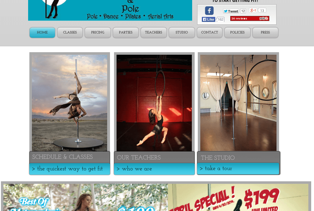 Metamorphosis Mind, Body & Pole Digital Marketing