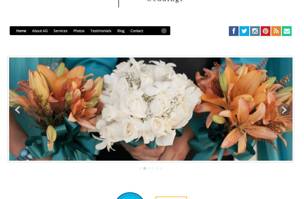 WEBSITE LAUNCH: Adriana Garcia Weddings
