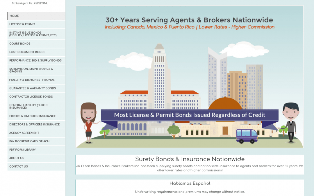 WEBSITE LAUNCH: JR Olsen Bonds