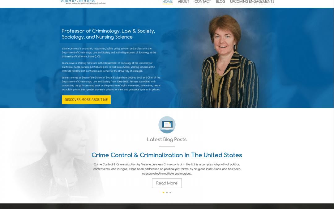 WEBSITE LAUNCH: Valerie Jenness, Professor at UCI